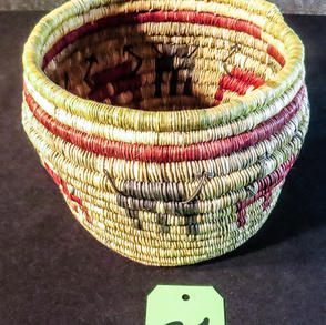 021 Coiled basket, 7 x 8, Hopi
