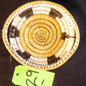 029 Handled basket, turtle design, Tohono O'odham