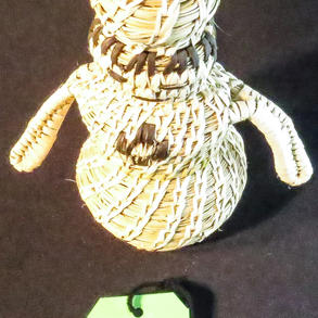 "019 Basket-woven figure, 8,"" Tohono O'odham"
