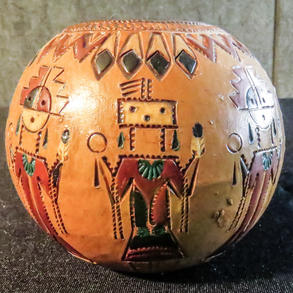 047 Ceramic seed jar, 3 x 3, Ken and Irene White, Navajo