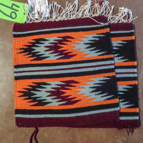 049 Lot of 2 weavings, 11 x 12 ea