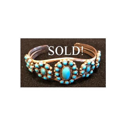 Vintage Petit Point Cuff Bracelet