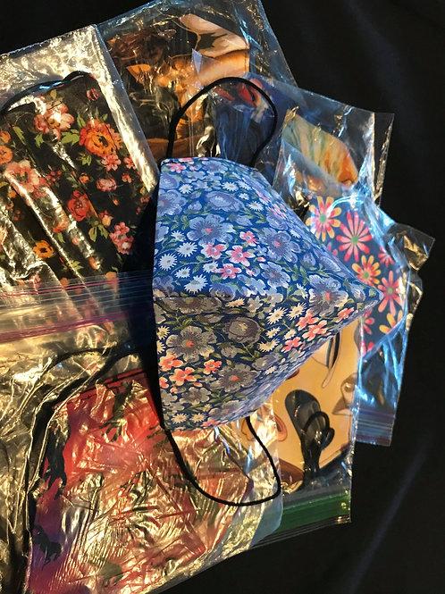 Breath masks by Rena Charles, Navajo. Various sizes and patterns