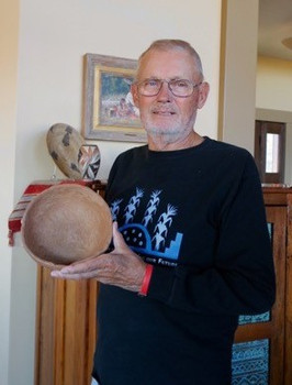 Jim Heuerman and his pot.