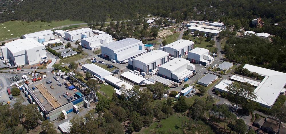 Aerial of Village Roadshow Studios