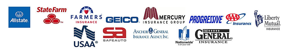 allstate,statefarm,farmers,geico,mercury,progressivr,aaa,liberty mutual,safeauto,usaa.anchor general,nationwide,general