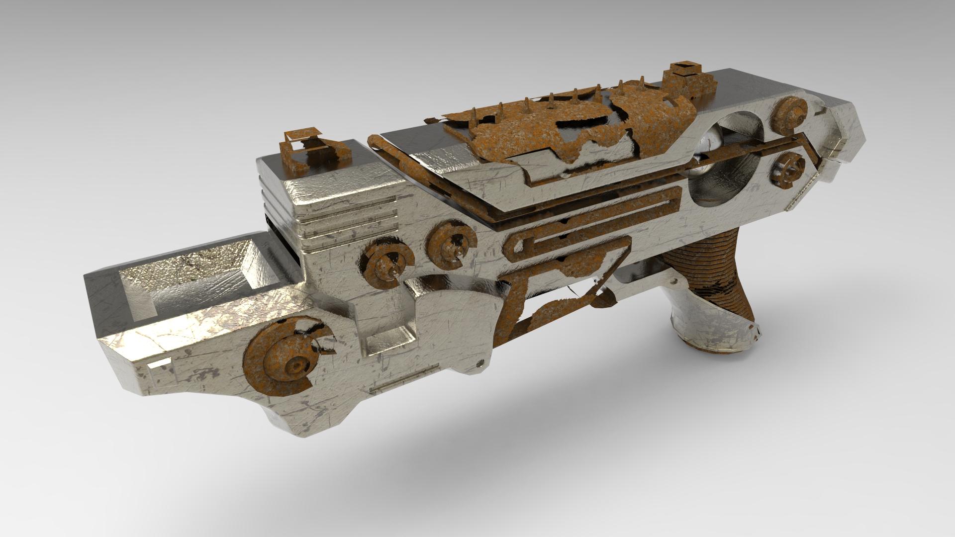 Rusted Plasma Pistol Concept