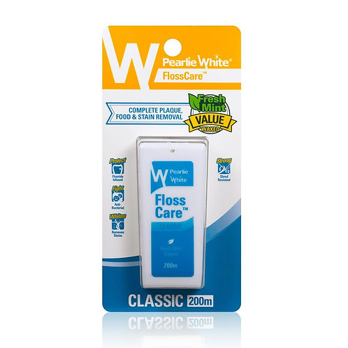 Pearlie White FlossCare Waxed Mint Dental Floss 200m