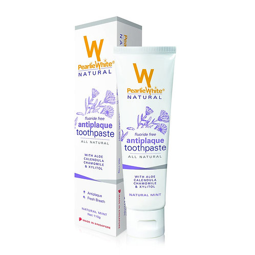 Pearlie White All Natural Anti-Plaque Fluoride-free Toothpaste 110g