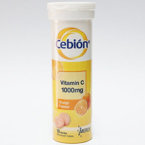(Bundle of 4 tubes) Cebion Vit C 1000mg Efferv Tablets 10's