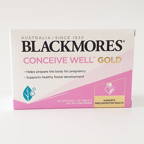 (Bundle of 2 Boxes) Blackmores Conceive Well Gold (28 Capsules + 28 Tablets)