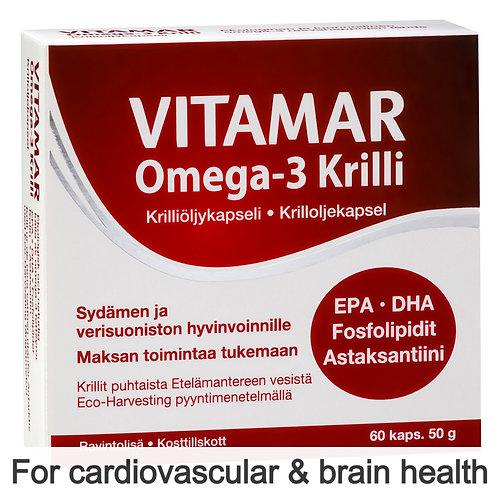 Hankintatukku Vitamar Omega-3 Krilli (Krill Oil) caps 60's