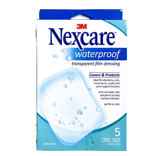 Nexcare Waterproof Transparent Film Dressing 5's