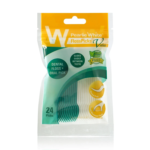 Pearlie White FlossPicks 2-IN-1 Mint Flosser 24's