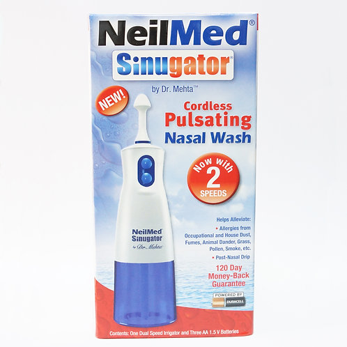Neilmed Sinugator Cordless Pulsating Nasal Wash (NEW with 2 speeds)