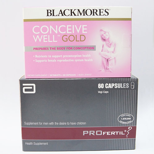 (Couple Bundle) Blackmores Conceive Well Gold & Profertil
