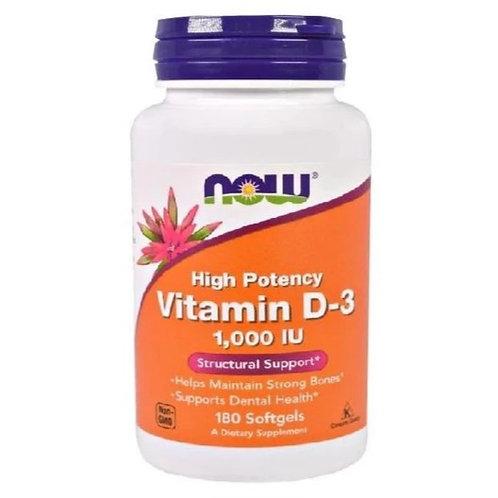 NOW Vitamin D-3 1000 IU 180's Softgels