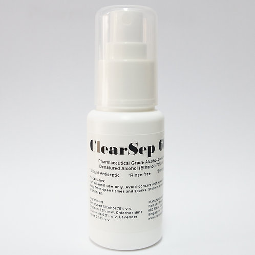 ClearSep Antiseptic Liquid (Hand Sanitizer/ Disinfectant) 60mL Spray Bottle