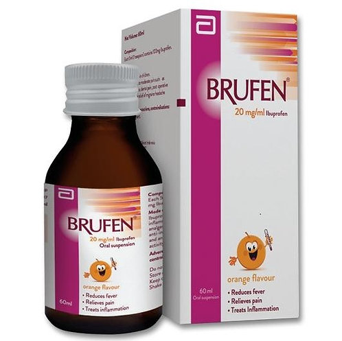 (Bundle of 2 bot) Ibuprofen 100mg/5mL Suspension 60mL (Brufen)