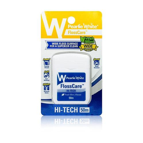 Pearlie White Hi-Tech Waxed Mint Dental Floss 50m