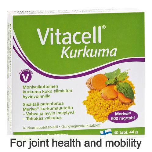 Hankintatukku Vitacell Kurkuma (Curcumin) tabs 40's