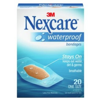 Nexcare Waterproof Clear Bandages 20's