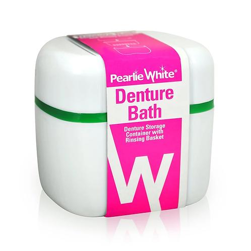 Pearlie White DentureBath Denture Container with Rinsing Basket