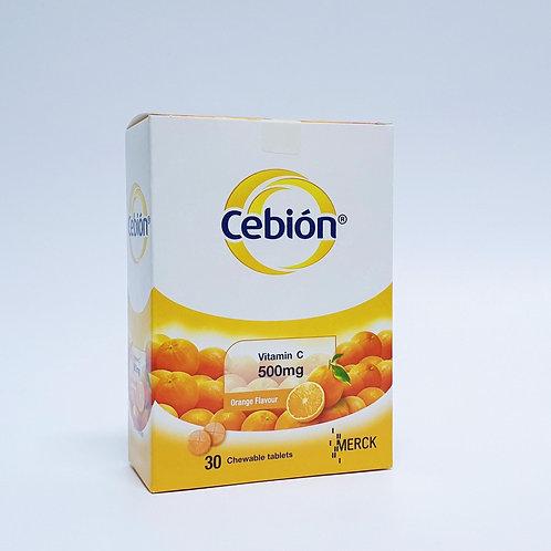 (Bundle of 4 boxes) Cebion Vit C 500mg Chewable Tablets 30's