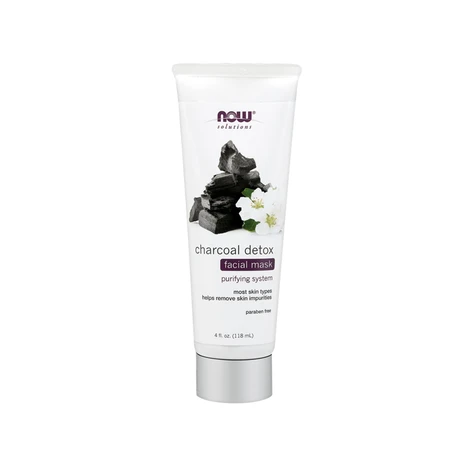 NOW Charcoal Detox Facial Mask 118mL