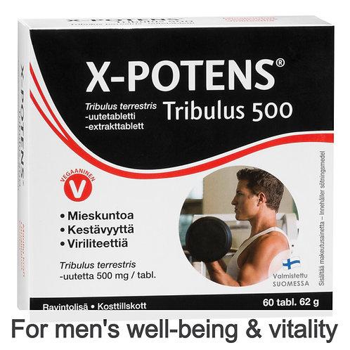 Hankintatukku X-Potens Tribulus 500 tabs 60's