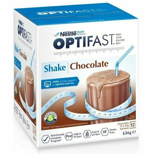 OPTIFAST VLCD POWDER CHOC 53g 12's
