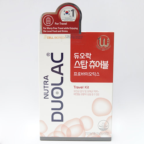DUOLAC Travel+ (Stop) Chewable Probiotic Tablets 30's