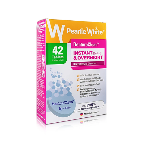 Pearlie White DentureClean Fast Action Cleansing Tablets 42's