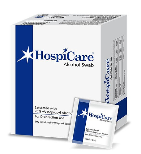 (Bundle of 3 Boxes) Hospicare Alcohol Swab 6cm x 3cm 200'S