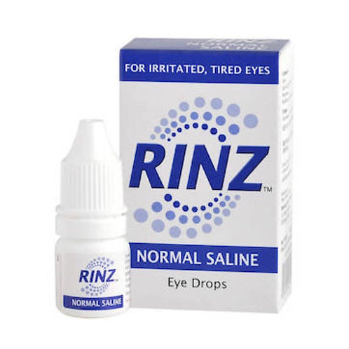 (Bundle of 4 Bottles) Sodium Chloride 0.9% Eye Drops 5mL (RINZ)
