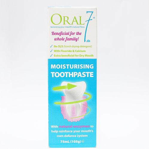(Bundle of 2) Oral 7 Moisturizing Toothpaste 75mL/105g