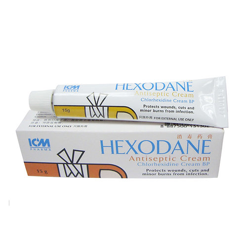 Chlorhexidine 1% Cream (Hexodane) 15g