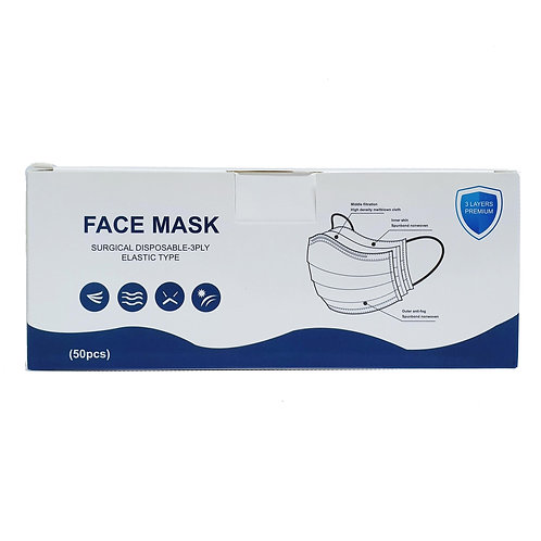 (Bundle of 2) Surgical Face Mask with Ear Loops 50's