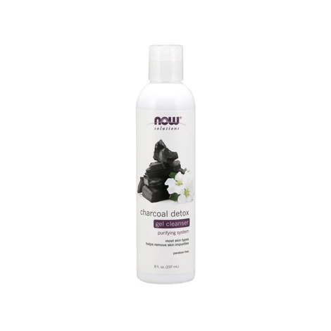 NOW Charcoal Detox Gel Cleanser 237mL