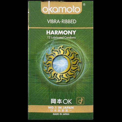 Okamoto Harmony Vibra-Ribbed Condoms 12's