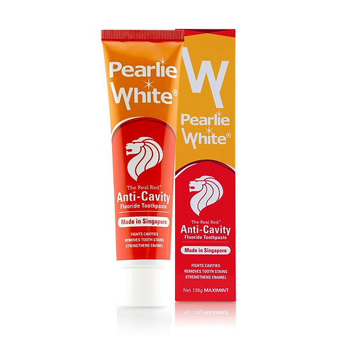 (Bundle of 2) Pearlie White The Real Red Anti-Cavity Toothpaste 138g