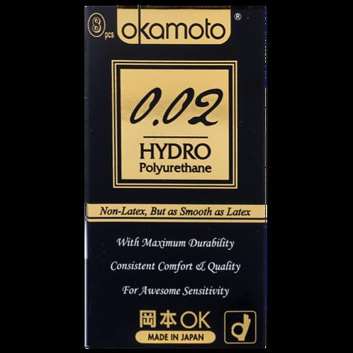 Okamoto 002 Hydro PU Condoms 8's