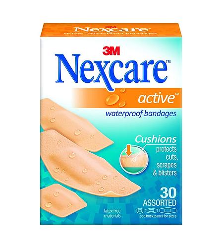 Nexcare Active Extra Cushion Bandages Assor 30's