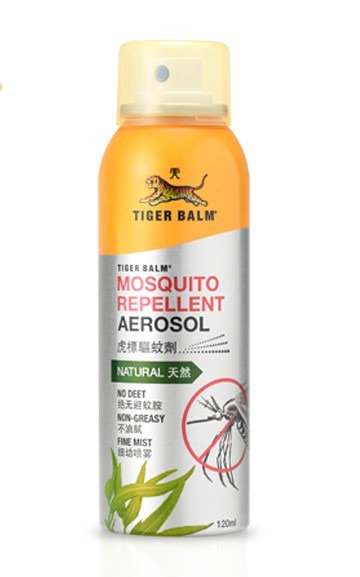 (Bundle of 4 Bottles) Tiger Balm Mosquito Repellent Aerosol Spray 120mL