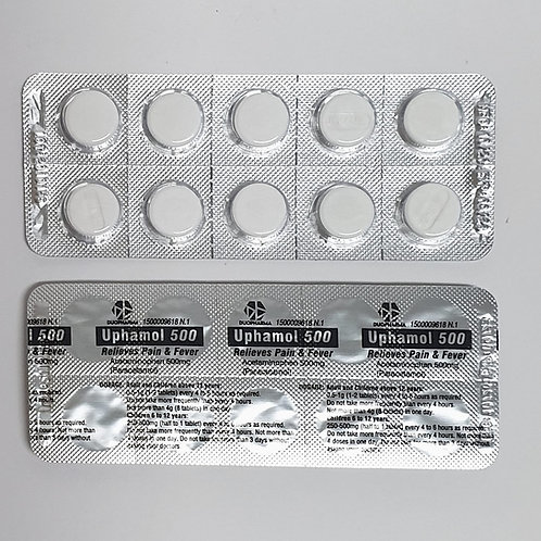 Paracetamol 500mg Tablet 100's (Uphamol)