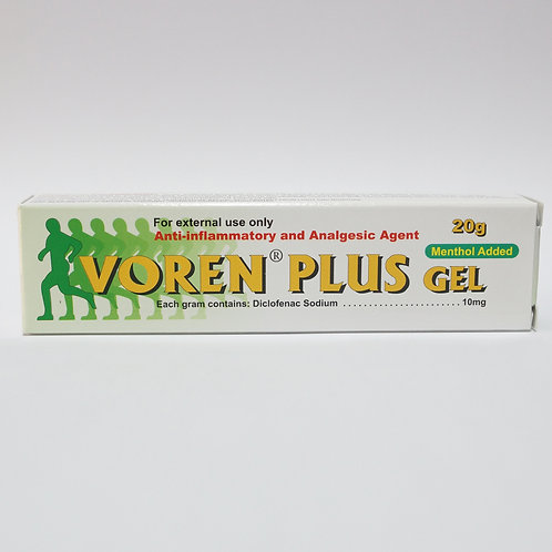 (Bundle of 2 tubes) Diclofenac 1% with Menthol Gel (Voren Plus) 20g