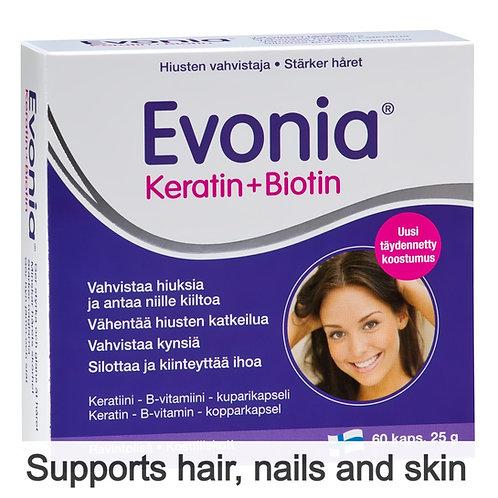 Hankintatukku Evonia Keratin + Biotin caps 60's