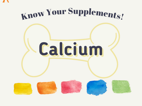 Know Your Supplements: Calcium Supplements