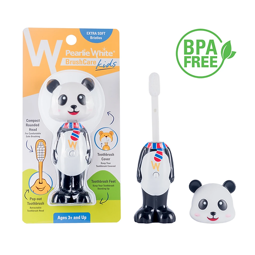 Pearlie White Kids Toothbrush Panda