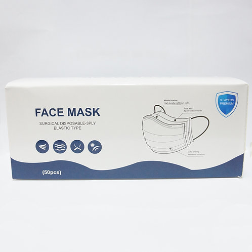 Surgical Face Mask with Ear Loops 50's